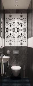 туалет с раковиной и сан.душем