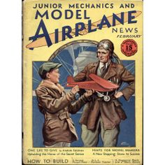 Vintage Plane Posters | Model Airplane News Vintage Cover Poster - February 1930