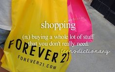 Or pretending to shop cause you either have no money or can't find anything