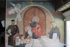 Το σκήνωμα του Μεγάλου Αλεξάνδρου μπροστά από τον τάφο του... ας προσέξουμε τα μαρμάρα στην είσοδο του τάφου... Σε μια αινιγματική τοιχογραφία στην εκκλησία Άξιον Εστί. Πάνω από 1 ώρα ανάλυσης και έρευνας... {Φτάνει αρχές Σεπτεμβρίου σε αφήγηση του πατέρα Απόστολου Γάτσια(Θεολόγος) και σχολιασμό Σάββα Παντζαρίδη(Καθηγητή και Διδάκτορα του Πανεπιστημίου Θεσσαλονίκης στην Βυζαντινή αγιογράφηση)}  So dark the con of man...