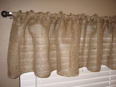 1-Hour Burlap Kitchen Curtains Tutorial