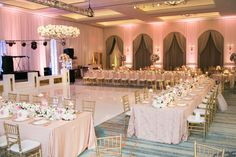 Casamento moderno mariana damian wedding wedding dress and gorgeous soft pink ball room wedding with decor from posh couture rentals junglespirit Image collections