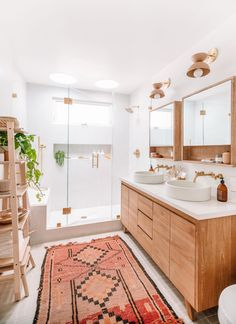 Master Bathroom Design Inspiration - Jess Ann Kirby | Fashion, Travel, & Lifestyle Blog Bad Inspiration, Bathroom Inspiration, Midcentury Modern, Modern Boho Bathroom, Minimal Bathroom, Modern Bathrooms, Earthy Bathroom, Bathroom Colors, Scandinavian Bathroom
