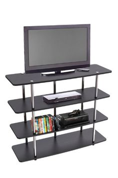 No tools required for assembly is just the start to this wonderful xl highboy tv stand by #convenience concepts provides ample space and elevated height that is ...