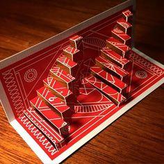 (20/52)  @theory11 #mysterybox #theory11 #MysteryBoxMonday #playingcards #playingcardart #kirigami #popup #popupcards #badrobot #jjabrams #redmysterybox #mysteryboxred #cut #fold