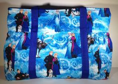 Disney Frozen Anna and Elsa tote Frozen Diaper bag Sleepover bag overnight bag carry on Disney gift Frozen gift (39.00 USD) by PenguinPouches
