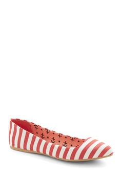 Like It or Nautical Flat in Red, #ModCloth