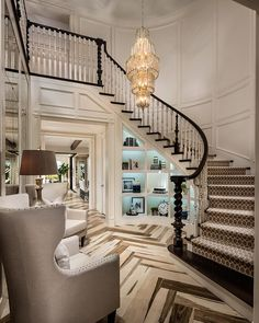 """""""How awesome is this foyer by Toll Brothers?! """""""
