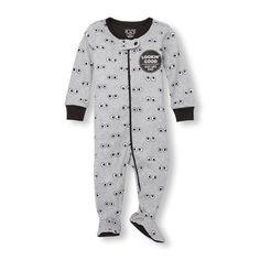 NWT The Childrens Place Boys /'Dad/'s MVP/' Football Footed Fleece Sleeper Pajamas