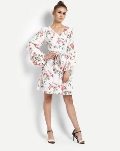 0b5cc51fefb2cf Buy Floral Cathy Bell Sleeves Dress Online at StalkBuyLove |  IN1723MTODREMLT-495