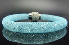 Swarovski Inspired Stardust Bracelet in Baby Blue