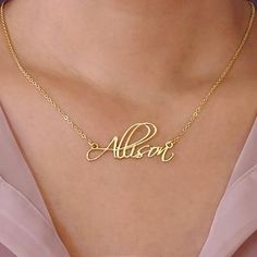 Bringing the art of the letter loop to perfection and beyond, a customized name necklace in this expressive font is just the gift for a girl whose personality is equally marked by dazzling flourishes. #Jewelry #customjewelry #Jewelryideas #handmadejewelry #bracelet #necklace #jewelryart #jewelryfashion #jewelrylovers #elegantjewelry #jewelryoftheday #jewelrystyle #jewelryinspiration #jewelrylover #pendant #pendants #pendantnecklce #pendantbracelet #barnecklaces #gift #gifts #womensfashion Moon Jewelry, Pandora Jewelry, Jewelry Art, Fashion Jewelry, Silver Jewelry, Fine Jewelry, Handmade Necklaces, Handmade Jewelry, Custom Necklaces