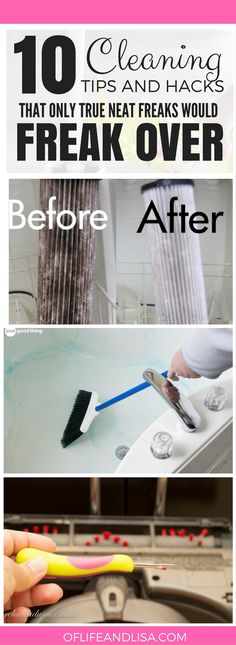 I'm a true neat freak and I LOVE these HACKS! REPIN FOR LATER! #home #cleaning #organizing #homemaking #sahm #life # love #pinterest #repin #blog