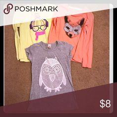 Girls T-Shirt Bundle Target brand, girls t-shirt bundle of 3 Shirts & Tops Tees - Long Sleeve