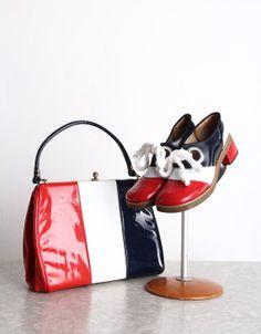 2 Pc Shoes Purse Set . Vintage Matching Pair . 1960s by VeraVague