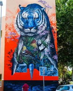 New mural by @krasertres in Cartagena, Spain for the One Urban World Festival.