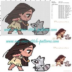 Pocahontas cross stitch pattern