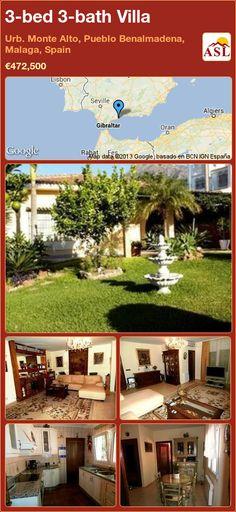 3-bed 3-bath Villa in Urb. Monte Alto, Pueblo Benalmadena, Malaga, Spain ►€472,500 #PropertyForSaleInSpain