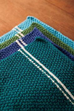 Dish Towel Set - Knitting Patterns and Crochet Patterns from KnitPicks.com