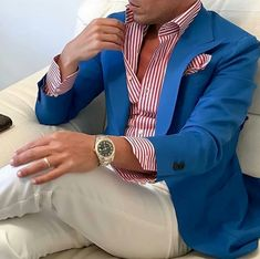 In getting the best casual outfits, man has to been logical. These casual outfits below would give you a clue of what you should go for. Blazer Outfits Men, Best Casual Outfits, Mens Fashion Blazer, Suit Fashion, Stylish Men, Men Casual, Traje Casual, Moda Formal, Herren Outfit