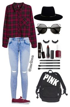 """""""Burgundy Is Awesome """" by mely-carrasco ❤ liked on Polyvore featuring French Connection, H&M, Vans, Victoria's Secret, Zimmermann, Essie, Monki and Japonesque"""