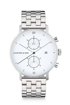 Chrono Silver Steel by Kapten & Son - the perfect christmas gift for your boyfriend | gift idea | inspiration | watch for him