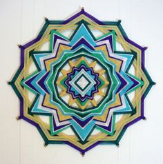 This OJOS de Dios-Yarn Mandalas or Eye of God is beautiful. I want this to make one just as pretty.