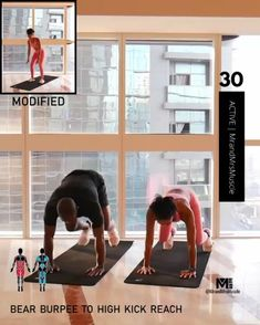 A full body HIIT workout — no equipment required Improve heart health, increase fat loss and strengthen and tone your muscles . Fitness Workouts, Full Body Hiit Workout, Gym Workout Videos, Fitness Workout For Women, Easy Workouts, Body Fitness, At Home Workouts, Dip Workout, Tabata Workouts