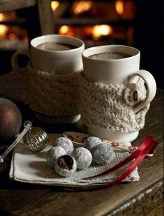 Mug warmers. Maybe my next knitting project...