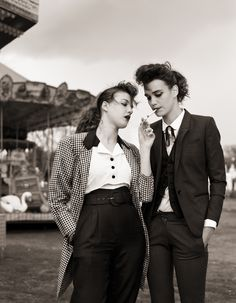 Les belles teddy girls de «Next» - Têtu ... kind of like Angiesyle, boyish yet romantic.