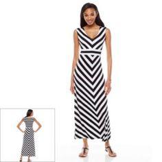 Apt. 9 Striped Maxi Dress - Women's