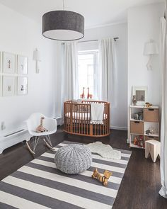 Super chic baby's nursery...very cool!