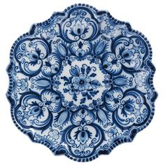 Makkum Plate - blue and white Blue And White China, Blue China, Love Blue, Blue Dishes, Blue Plates, Color Azul, White Decor, Delft, Plates On Wall