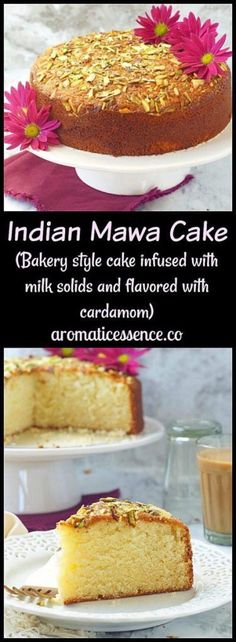 Step-by-step recipe with pictures to make Indian mawa cake, a moist, dense, decadent and delicious Indian cake. How to make bakery style mawa cake at home Bakery Style Cake, Bakery Cakes, Food Cakes, Indian Desserts, Indian Sweets, Indian Food Recipes, Indian Cake, Cake Recipes, Dessert Recipes