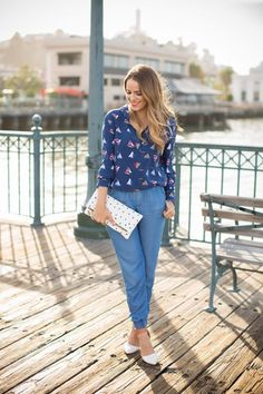 How to Style Chambray Joggers