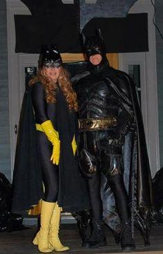 Batgirl and Batman.