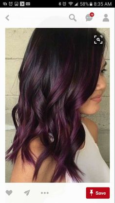 Hairstyles Süße dunkellila Haarfarbe Ideen Why Men Should Get Hair Color Too Article Body: We all kn Dark Purple Hair Color, Hair Color And Cut, Purple Brown Hair, Plum Colour, Soft Purple, Black To Purple Ombre, Ombre For Dark Hair, Ombre Purple Hair, Hair Color Ideas For Dark Hair