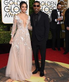 Following in her father's footsteps?: Jamie Foxx's daughter Corinne was in the spotlight as she had the honour of being Miss Golden Globe