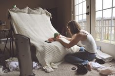 behind the scenes of a newborn shoot with Lacey Meyers Photography