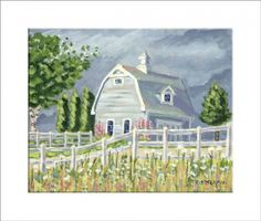 """Barn Storm"" - reproduction print of an acrylic painting by Barb Timmerman."