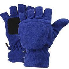 Women's Fleece Fingerless Gloves / Convertible Mittens (Medium, Navy) - http://todays-shopping.xyz/2016/07/02/womens-fleece-fingerless-gloves-convertible-mittens-medium-navy/