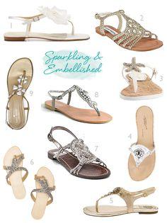 bce994bf26da sandals embellished dressy Dressy Flat Sandals