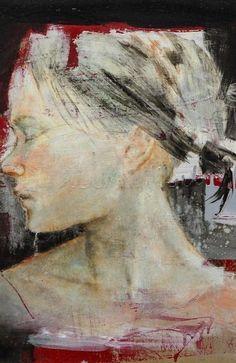 MASSIMO LAGROTTERIA * 1972 * Italian * http://www.massimolagrotteria.com *  oil on paper and canvas ~ 2012 ~ contemporary figurative female