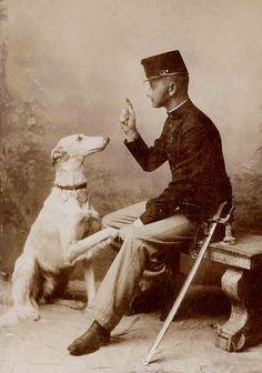 Man And His Saluki (Credit: Libby Hall Dog Photos).
