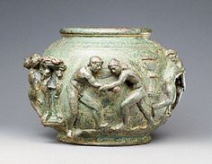Bowl with Competing Athletes, Gallo-Roman, A.D. 75-100. Bruce White Photography