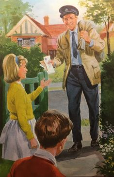 Vintage books for kids Vintage picture from the book The Big House by Ladybird Books Ltd Images Vintage, Retro Images, Vintage Pictures, Art Pictures, Vintage Books, Vintage Posters, Vintage Art, Pin Up, Ladybird Books