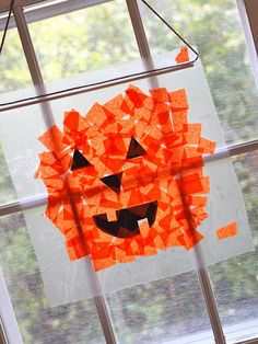 11 Halloween crafts for kids - Today's Parent  put tissue paper in the spotlight to change color? wonder if that would work