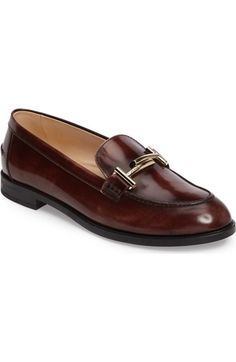 a5ccb1718ba Tod's 'Double T' Loafer (Women) available at #Nordstrom Burgundy Shoes,