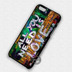 The Beatles Graffiti Is Love Wall Art - iPhone 7 6S  5C SE Cases & Covers