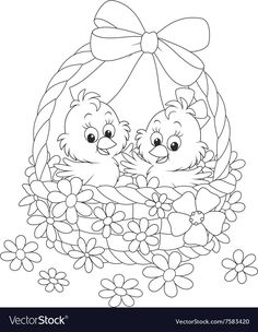 Easter coloring pages - Uskrs bojanke za djecu - Free printables, Easter bunny, eggs, chicks and more on BonTon TV - Coloring books Easter Coloring Sheets, Easter Bunny Colouring, Bunny Coloring Pages, Spring Coloring Pages, Coloring Book Art, Coloring Pages To Print, Free Printable Coloring Pages, Colouring Pages, Adult Coloring Pages
